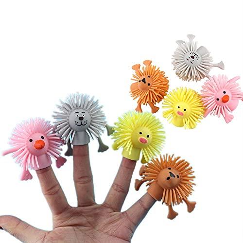5 PCS Marionetas de Dedo de Animales Novedad Marionetas de Dedo de Baño Suministros para la Hora del Cuento de Bebé Marionetas de Dedo Elásticas Juguete Educativo Temprano, Estilo Aleatorio