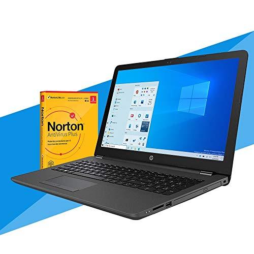HP 255 G7 Notebook HP Display de 15,6 pulgadas, CPU AMD A4-9125, RAM 8 GB DDR4 SSD M.2 256 GB, Radeon R3, PC portátil HP, HDMI, DVD CD RW, Wi Fi, Bluetooth, Windows 10 Professional