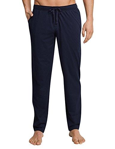 Schiesser Herren Mix & Relax Hose Lang Schlafanzughose, Blau (Dunkelblau 803), Large (Herstellergröße: 102)