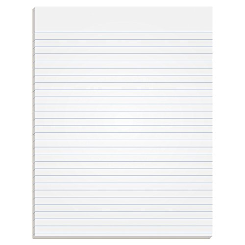 "TOPS The Legal Pad Writing Pads, Glue Top, 8-1/2"" x 11"", Narrow Rule, 50 Sheets, 12 Pack (7529)"
