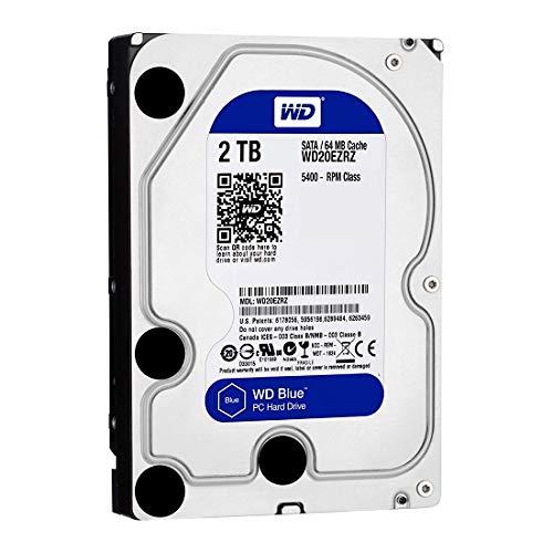 Western Digital Unisex-adulto Disk Drive Desktop Hard con 5400 RPM, SATA 6 Gb / s 64MB di cache Blu 2 TB, 3,5 pollici