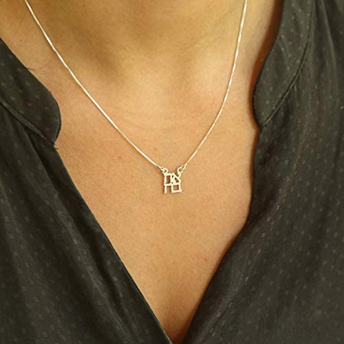 Passover Gift Handmade Hebrew Dainty Love Ahava Silver Necklace Gift from Israel Holiday Gift product image