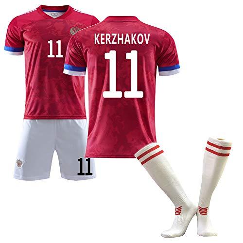 Camiseta de fútbol, Kokorin Arshavin Kerzhakov, Camisetas de la Copa de Europa de Rusia 2020 (Local), Trajes de fútbol para Adultos y niños, Personalizables