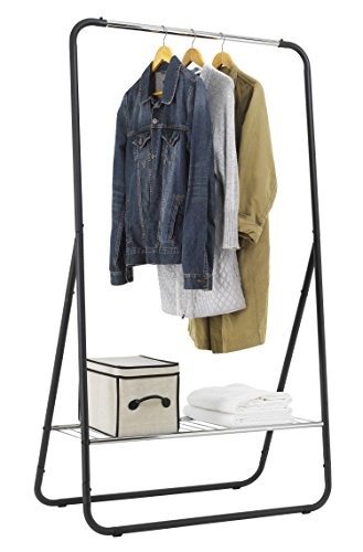 Finnhomy Clothes Rack Portable Extra Large Garment Rack 1-Tier Storage Box Shelves for Entryway and Bed Room ¡­