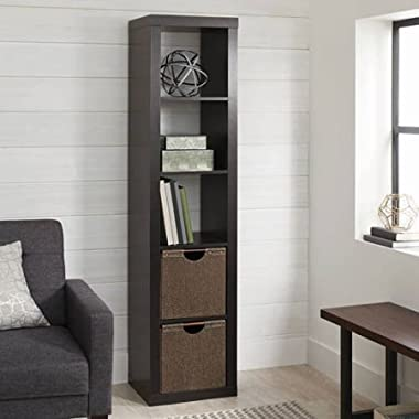 Better Homes and Gardens 5-Cube Organizer Storage Bookcase Bookshelf, Espresso