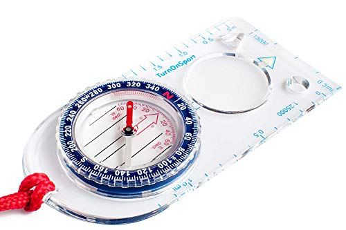 Orienteering Compass - Hiking Backpacking Compass - Advanced Scout Compass Camping and Navigation - Boy Scout Compass Kids - Professional Field Compass for Map Reading - Best Survival Gifts (Blue)