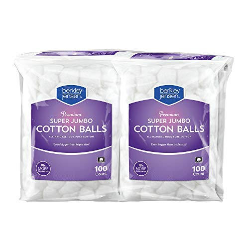 Berkley Jensen Super Jumbo Cotton Balls, 4 pk./100 ct.