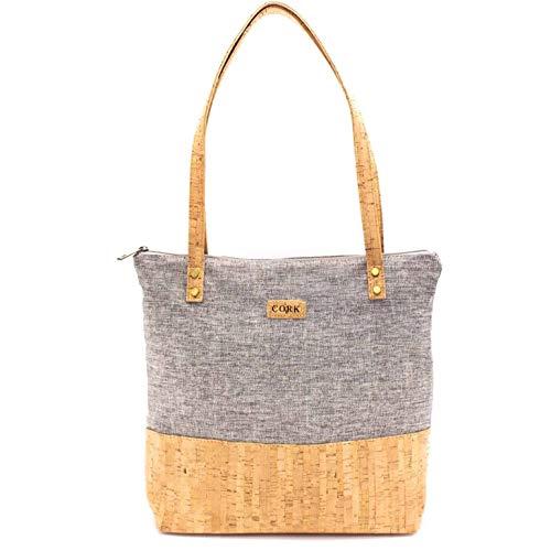 Kork Damen Handtasche Esmeralda 4 Farben (Grau)