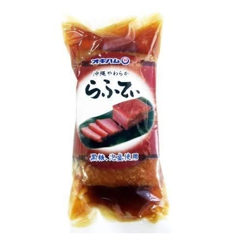 沖縄やわらからふてぃ ブロック 300g×1袋 オキハム 沖縄風豚の角煮 厳選された三枚肉(豚バラ肉)を使用 柔らかく味わい深い美味しさ 常温保存で沖縄土産にも最適
