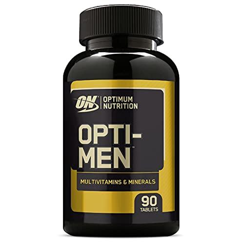 Optimum Nutrition Opti-Men Integratore Multivitaminico per Uomini con Vitamina D, Vitamina C, Vitamina A e Aminoacidi, 30 Porzioni, 90 Capsule