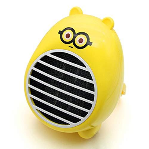 Elektrische mini-radiator, laag vermogen, 250 W, kleine afmetingen, warmteconcentratie, slaapzaal, studenten - 250 W verwarming Geel.