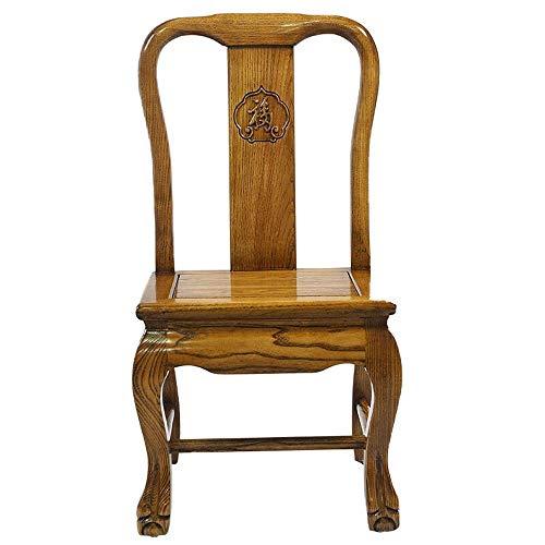 CENPEN Sillas de comedor, cocina, taburete de madera maciza, taburete pequeño, silla de bebé, taburete bajo, banco de zapatos, sofá (color: marrón, tamaño: 36 x 39 x 68 cm)