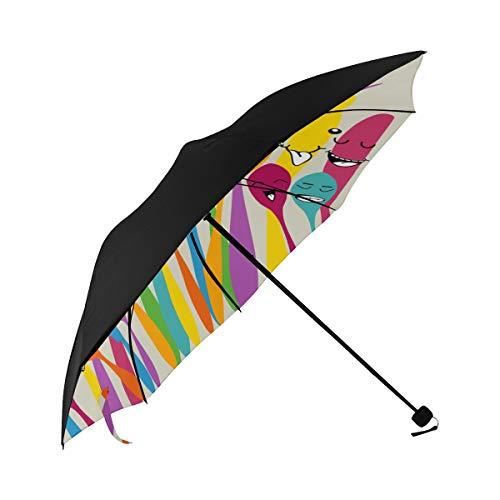 Oktoberfest Cutlery Ribbon Dining Table On Cutting Board Blue Grey Art Compact Travel Umbrella Parasol Anti Uv Foldable Umbrellas(underside Printing) As Best Present For Women Uv Protection