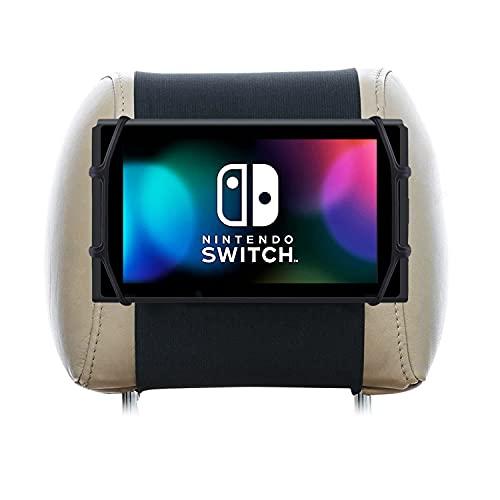 Tablet halterung auto kopfstütze kompatibel mit Nintendo Switch Unzerbrechliches Material Silikon Nylon tablethalterungen auto tablet halterung kopfstütze kfz