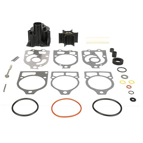 Quicksilver Water Pump Repair Kit 812966A12 - Outboard and Stern Drive - for Mercury and Mariner 65 HP (4-Cylinder) Through V-6 Outboards with Short-Vane Impellers