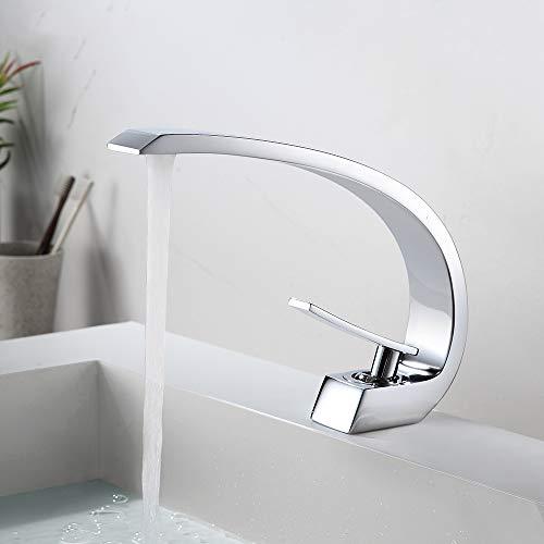 Rozin Chrom Waschbecken Wasserhahn Bad Wasserhahn Messing Einhebelmischbatterie Waschtisch Armaturen für Badezimmer