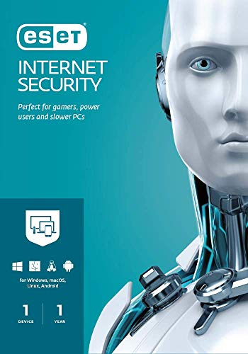 ESET | Internet Security 2021 | 1 User | 1 Year Antivirus | Windows ( 10, 8, 7 and Vista) | PC Activation Code by email