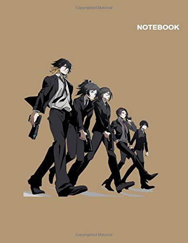 Psycho-Pass Anime Notebook Cover: 110 pages [55 sheets], College Ruled paper, Large (8.5 x 11 inches).