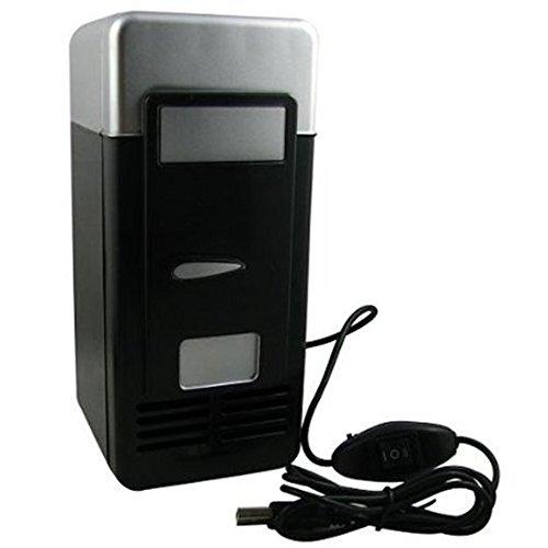 Mini Desktop Fridge Cooler Personal Fridge(Black)