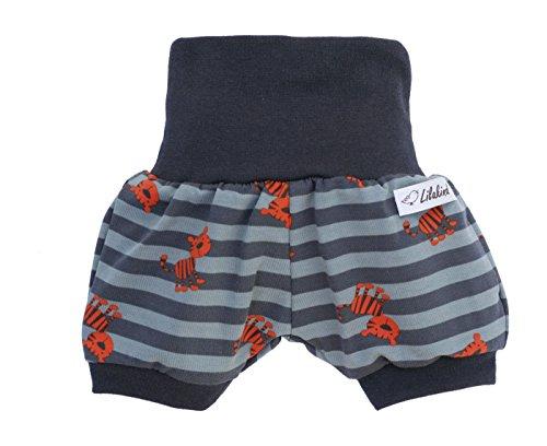"Lilakind"" Kurze Jungen Pumphose Shorts Buxe Sommerhose Gestreift Tiger - Made in Germany"