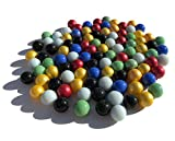 FAIRY TAIL & GLITZER FEE 100 pezzi colorati Murmeln vetro 16 mm pietre di vetro Murmel vas...