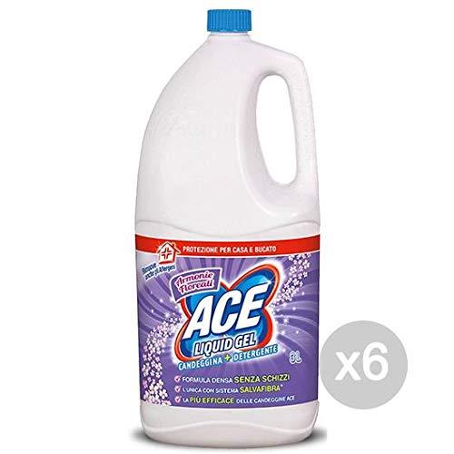 ACE+ Juego de 6lejía Denso Viola Floreal 2,5+ deterg detergente y Limpieza de la casa, única