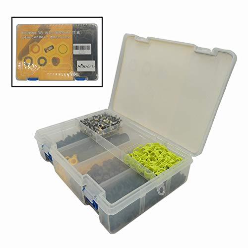 HiSport 200-kit Fuel Injector Rebuild Service Repair Kits - O rings, Spacers, Pintle Caps, Micro Basket Filters + Removal Tool (200set/box)