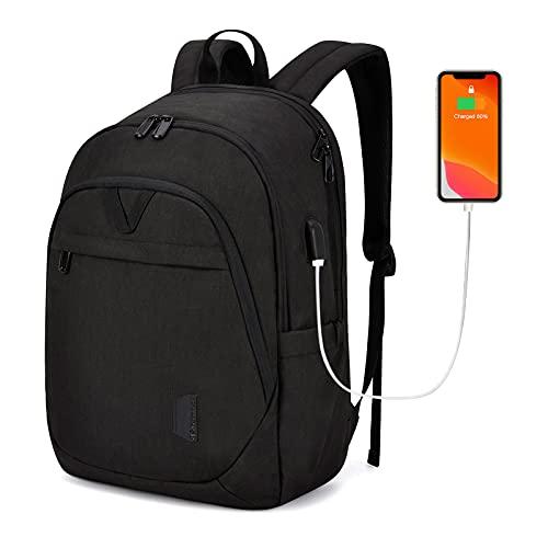 BAGSMART Backpacks for Men College Backpack 15.6'' Laptop Travel Back Pack with USB Charging Port Computer Bag Work Business College High School Practical Gift