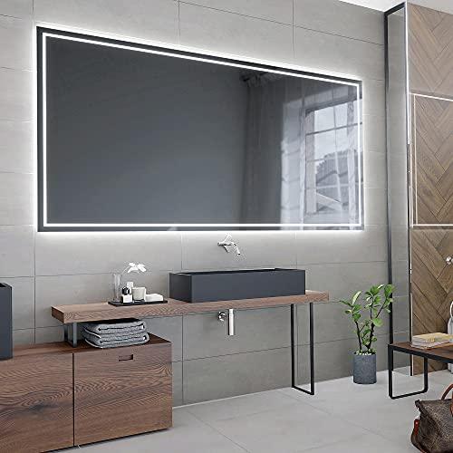 ARTTOR Badspiegel mit Beleuchtung - Bad Dekoration - Wandspiegel Groß und Spiegel Klein mit Led Licht - Unterschiedliche Lichtanordnung und Alle Dimensionen - M1ZP-48-80x60