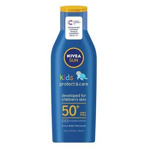 NIVEA SUN Kids Moisturising Sun Lotion SPF 30 (50 ml), Moisturising Suncream with SPF30, Children's Sunscreen for Immediate Protection from Sun Exposure