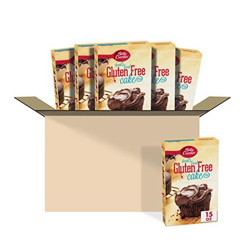 Betty Crocker Baking Mix, Gluten Free Cake Mix, Devil's Food, 15 oz (Pack of 6)