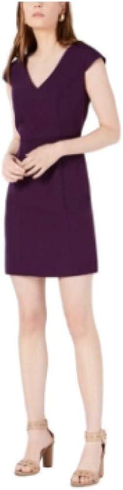 Bar III V-Neck Bodycon Dress, Purple Dynasty 8