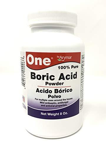 Boric Acid Granular Powder Acido Borico Polvo (8 Oz) Made in USA 100% Pure