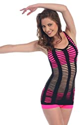 Kurve Dancewear Fishbone fishnet Racerback Tank Top
