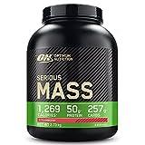 Optimum Nutrition Serious Mass Gainer, Proteine Whey in Polvere per Aumentare la Massa Muscolare con Creatina, Glutammina e Vitamine, Fragola, 8 Porzioni, 2.73 kg, il Packaging Potrebbe Variare