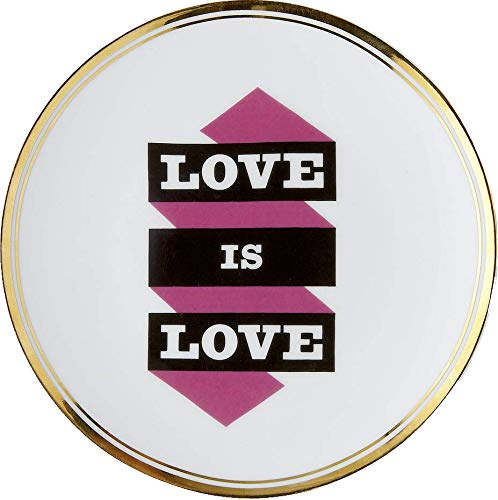 BITOSSI Home & Funky Table LA TAVOLA SCOMPOSTA, Piatto Love IS Love Ø 17 CM