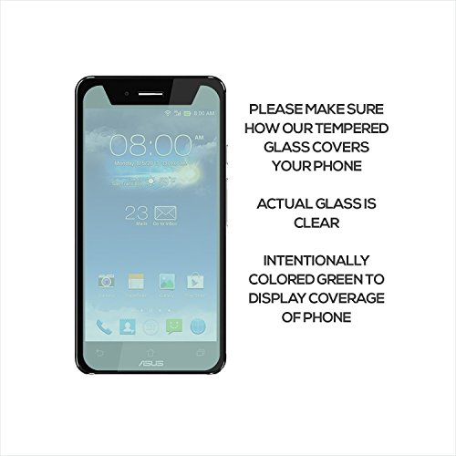 SOJITEK Asus PadFone X Mini PF450CL Premium Ballistic Tempered Glass Screen Protector with Lifetime Replacement Warranty - High Definition Ultra Clear Clarity and Touchscreen Accuracy Smart Film