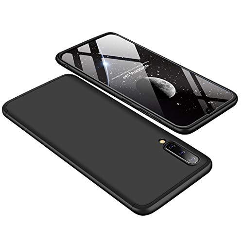 CXvwons Coque Samsung Galaxy A70, Housse Etui Hybride Robuste 3 en 1 Antichoc [Coussin d'air] Ultra Mince Mat Anti-Rayures Dur PC Bumper Case Housse Etui pour Galaxy A70 (Galaxy A70, Noir)