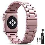 PUGO TOP Armband Replacement for Apple Watch Series 4 3 2 1, Solid Edelstahl Metall Ersatz iWatch...