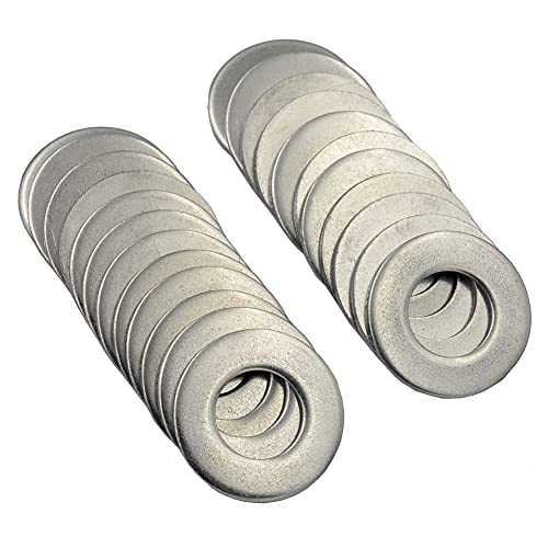 DGOL 30 pcs 5/8 inch 304 Stainless Steel SAE Flat Washer, 5/8 inch x 1-5/16 inch Washers Assortment Kit
