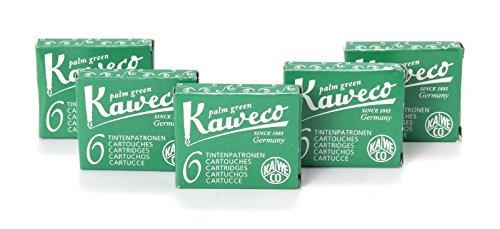 Kaweco Tintenpatronen kurz, Palm Green (Grün), 30 Stück