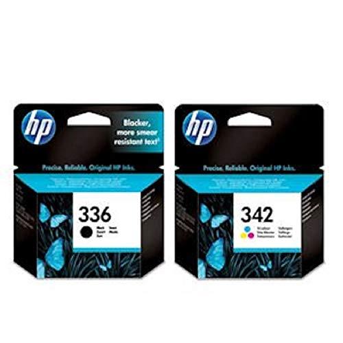 Hewlett Packard HP342 und 336 Original HP Tintenpatronen, 2-er Set, 1 x schwarz/farbige tinten
