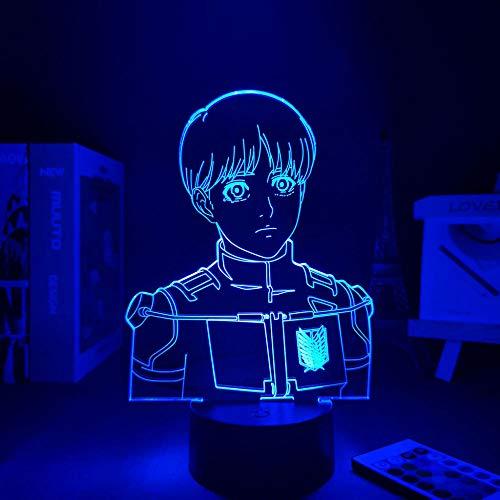 3D noche luz anime lámpara noche ataque a Titan 4 armin Arlert noche lámpara sensor luz anime figuras luz pequeña lámpara lámpara de mesa ZGLQ