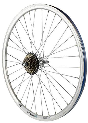 wheelsON 26 inch Rear Wheel + 6 Spd Shimano Freewheel Hybrid/Mountain Bike 36H Silver