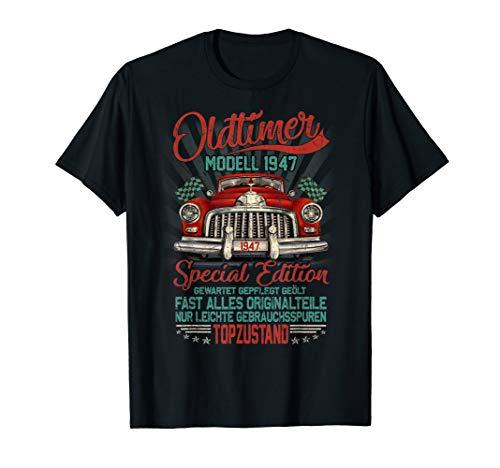 Herren 73. Geburtstag Shirt Jahrgang 1947 Vintage Oldtimer Geschenk T-Shirt