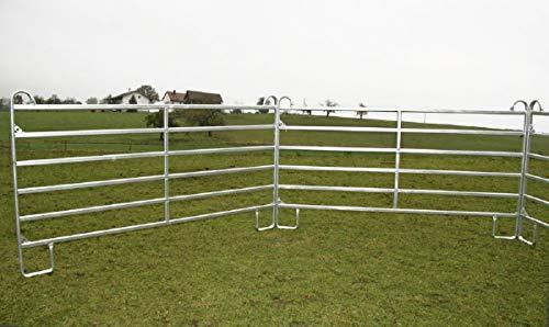 Weidepanels Zaunelement 360 cm Schnellkettenverschluss - 2