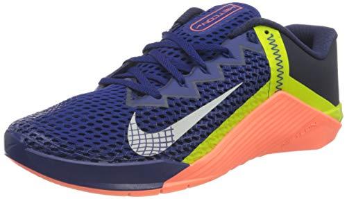 Nike Metcon 6, Zapatillas de ftbol Unisex Adulto, Deep Royal Blue Mtlc Platinum BRT Mango Blackened Blue Cyber, 44 EU