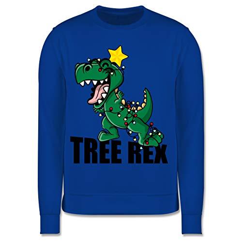 Shirtracer Weihnachten Kind - Tree Rex - 116 (5/6 Jahre) - Royalblau - Tree rex Pullover Kinder 116 - JH030K - Kinder Pullover