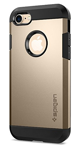 iPhone 7 Hülle, Spigen® [Tough Armor] Schwerschutz [Champagne Gold] Doppelte Schutzschicht und Extrem Hoher Fallschutz Schutzhülle für iPhone 7 Hülle, iPhone 7 Cover - Champagne Gold (042CS20490)