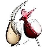 3D Sticker De Porte Pour Décor Cuisine Chambre Salle De Bain Mur Verre À Vin Rouge Décoration Auto Adhésif Amovible Pvc Autocollants De Porte Muraux Artistique 77X200Cm